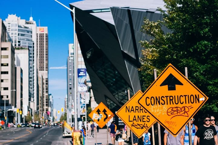 street-warning-sign-building